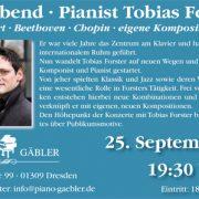 Klavierabend mit Tobias Förster in Dresden
